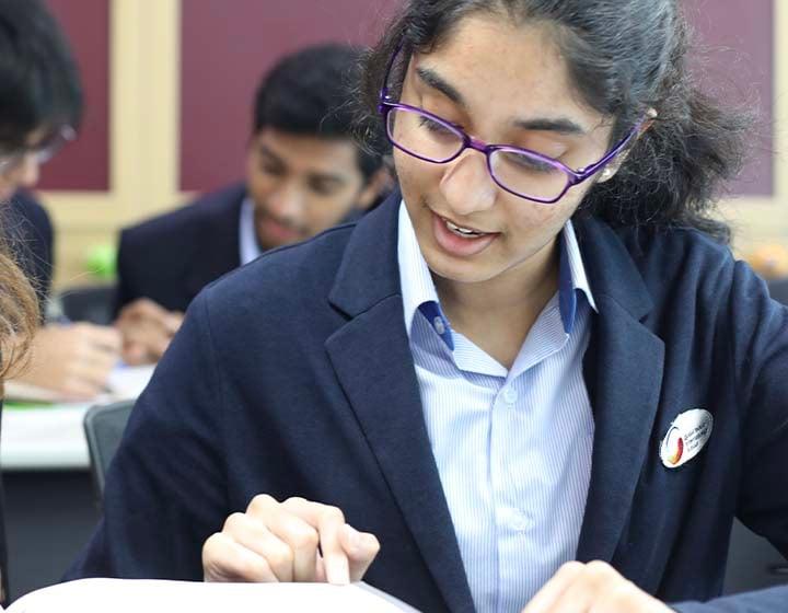 Student of GIIS studying